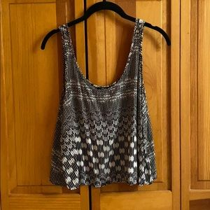 Neutral patterned tank top